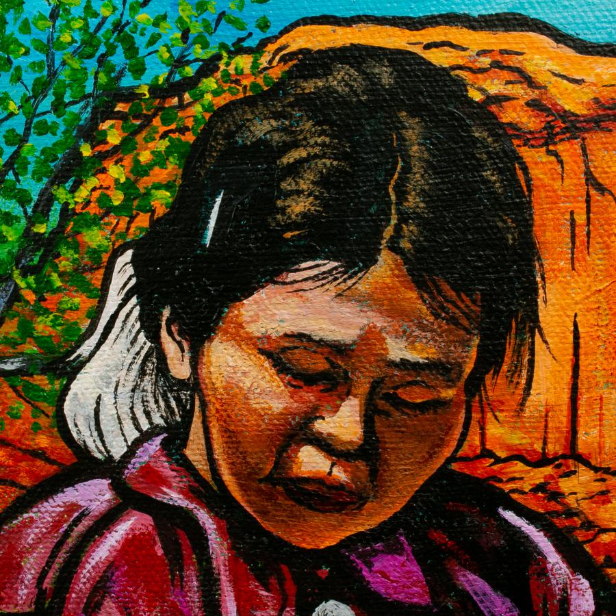singer weaver detail